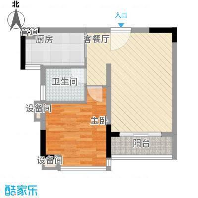 翠湖茗苑nEO_IMG_3号楼L户型3号户型1室1厅1卫1厨