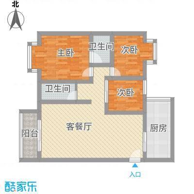 兰花苑93.00㎡兰花苑3室户型3室