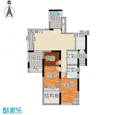 世纪明园深圳世纪春城四期户型图1户型3室2厅2卫1厨