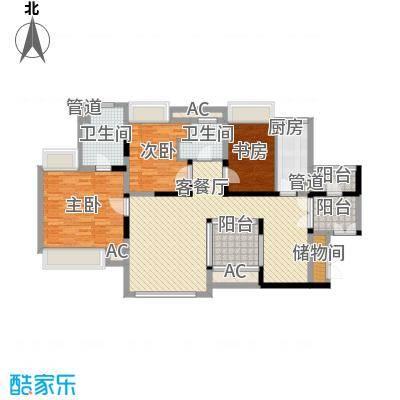 世纪明园深圳世纪春城四期户型图2户型3室2厅2卫1厨