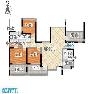 金光华龙岸花园122.00㎡金光华龙岸花园户型图1/2栋A+B6-28偶数层3室2厅2卫1厨户型3室2厅2卫1厨