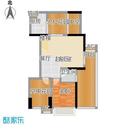 畔山御景花园88.15㎡户型1户型2室2厅2卫