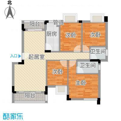 馨园109.00㎡馨园4室户型4室
