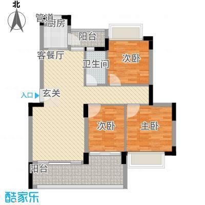 桂冠华庭桂冠华庭户型图F1户型3室2厅1卫户型3室2厅1卫
