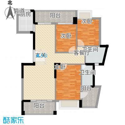桂冠华庭桂冠华庭户型图H2户型3室2厅2卫户型3室2厅2卫