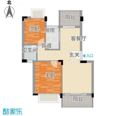 桂冠华庭桂冠华庭户型图D户型2室2厅1卫户型2室2厅1卫