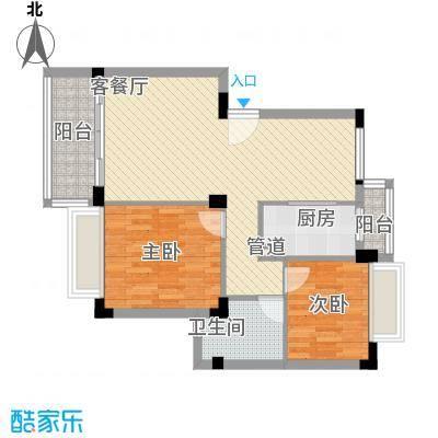 桂冠华庭桂冠华庭户型图B户型2室2厅1卫户型2室2厅1卫