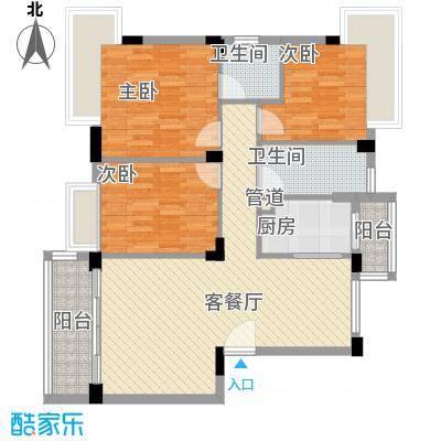 桂冠华庭桂冠华庭户型图C户型3室2厅2卫户型3室2厅2卫