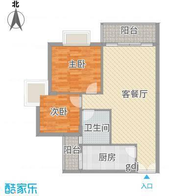 深圳皓月花园二期户型图3