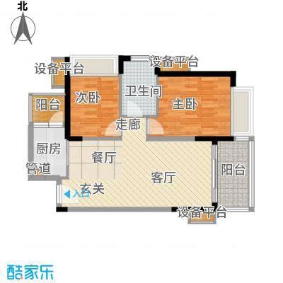半岛城邦二期86.00㎡半岛城邦二期2室户型2室
