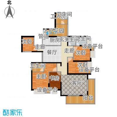 半岛城邦二期155.00㎡半岛城邦二期5室户型5室
