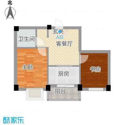 兰溪文苑55.15㎡兰溪文苑1室户型1室
