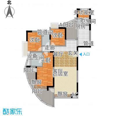 圣莫丽斯155.86㎡圣莫丽斯户型图8栋P4型奇数层3室2厅2卫1厨户型3室2厅2卫1厨