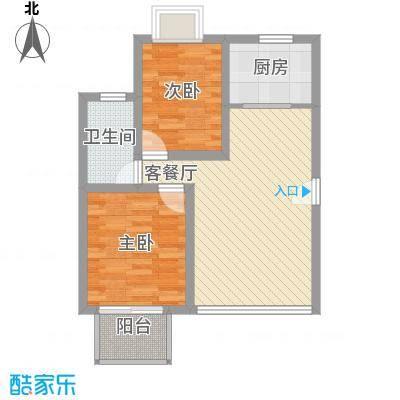 幸福E家二期71.84㎡福祥园(幸福E家二期)2室户型2室