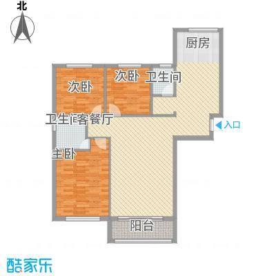 华邦上都141.03㎡华邦上都户型图3室2厅2卫户型10室