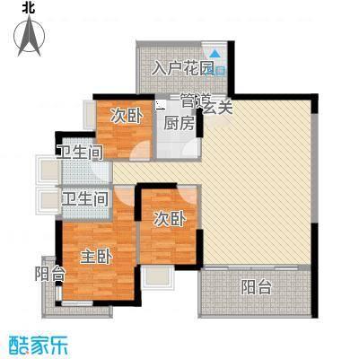 深物业新华城110.00㎡天盛阁5-31F户型3室2厅2卫1厨