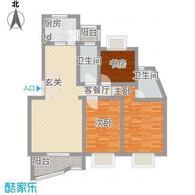 丰泽湖山庄90.00㎡丰泽湖山庄3室户型3室