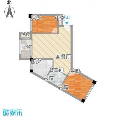 中冶蓝城76.00㎡中冶蓝城户型图10号楼F1户型2室2厅1卫1厨户型2室2厅1卫1厨