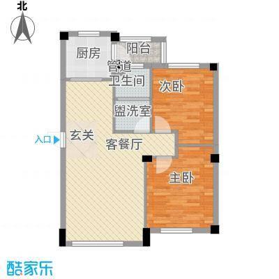 颐和五号85.00㎡颐和五号户型图2号楼C户型2室2厅1卫1厨户型2室2厅1卫1厨