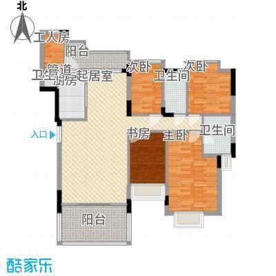 海怡东方花园146.58㎡深圳海怡东方花园户型图3户型10室