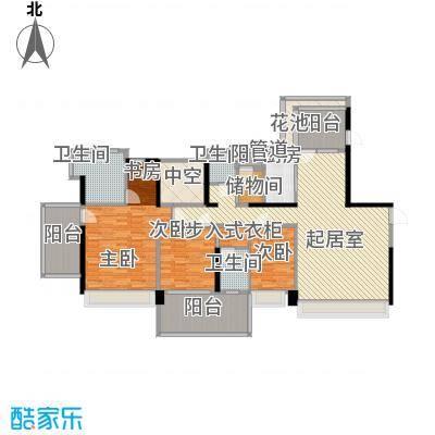 溪山别墅溪山别墅户型图一期10、13栋4-26偶数层户型10室