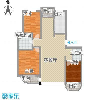 鹏辉新世纪117.00㎡鹏辉新世纪户型图3室户型图3室2厅2卫1厨户型3室2厅2卫1厨