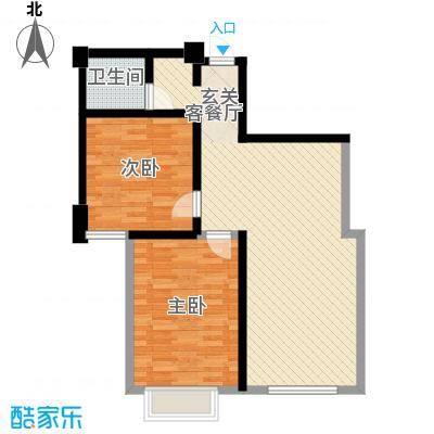 新华绿洲95.05㎡新华绿洲2室户型2室