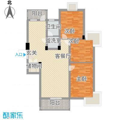 新华绿洲116.03㎡新华绿洲2室户型2室
