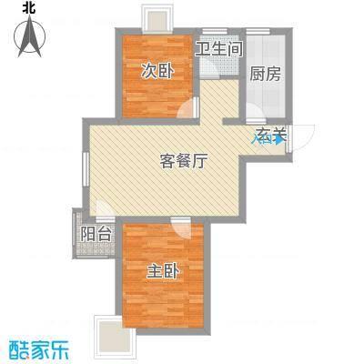 新华绿洲85.34㎡新华绿洲2室户型2室