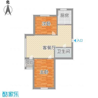 龙畔金泉77.33㎡龙畔金泉户型图三期户型2室1厅1卫1厨户型2室1厅1卫1厨