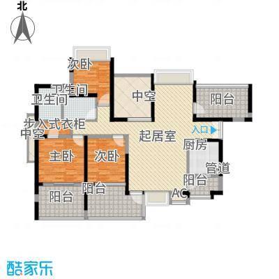 龙岸花园别墅龙岸花园别墅户型图1/2栋A+B6-28偶数层户型10室