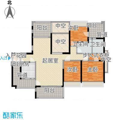 龙岸花园别墅龙岸花园别墅户型图1/2栋C+D5-27奇数层户型10室