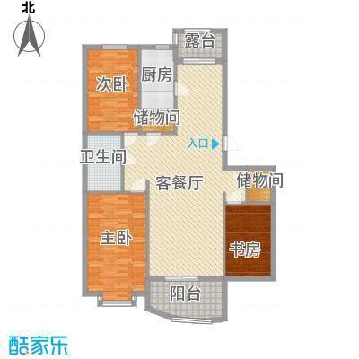 龙畔金泉130.39㎡龙畔金泉户型图二期户型3室2厅1卫1厨户型3室2厅1卫1厨
