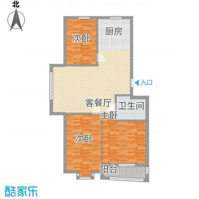 龙畔金泉112.89㎡龙畔金泉户型图二期户型3室2厅1卫1厨户型3室2厅1卫1厨
