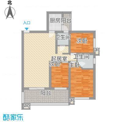 华富市场95.00㎡华富市场3室户型3室