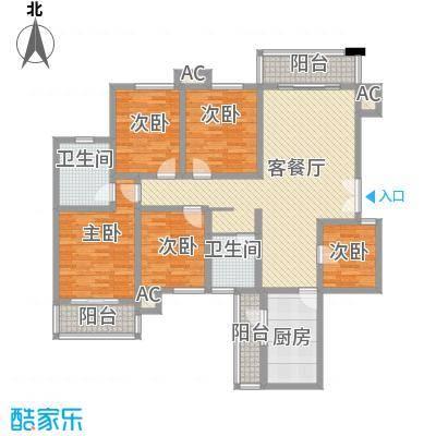 高正豪景花园164.00㎡高正豪景花园5室户型5室