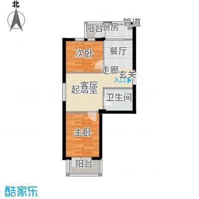 水映西山80.99㎡水映西山户型图B22室2厅1卫1厨户型2室2厅1卫1厨
