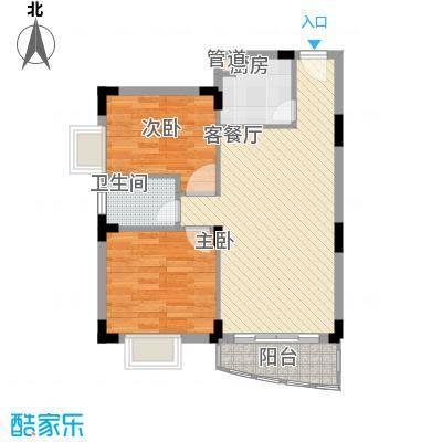 中环花园三期76.00㎡中环花园三期2室户型2室