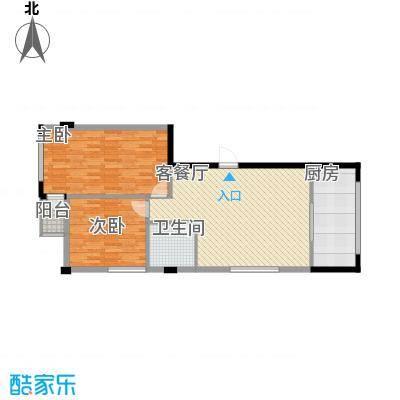 八一新居98.00㎡八一新居户型图两室两厅2室2厅1卫1厨户型2室2厅1卫1厨