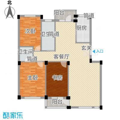 长鹭晶品缘林126.00㎡长鹭晶品缘林3室户型3室