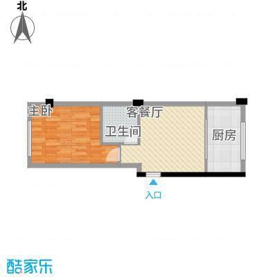 八一新居49.10㎡八一新居户型图一室一厅1室1厅1卫1厨户型1室1厅1卫1厨
