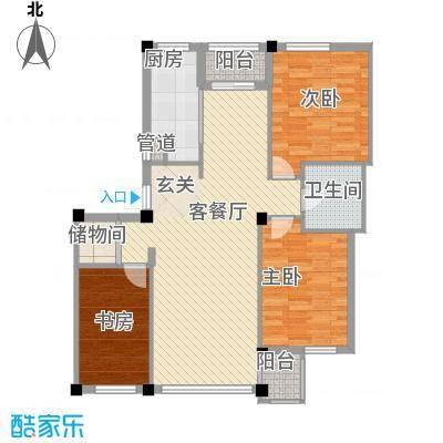 谷和温馨苑116.96㎡谷和温馨苑3室户型3室