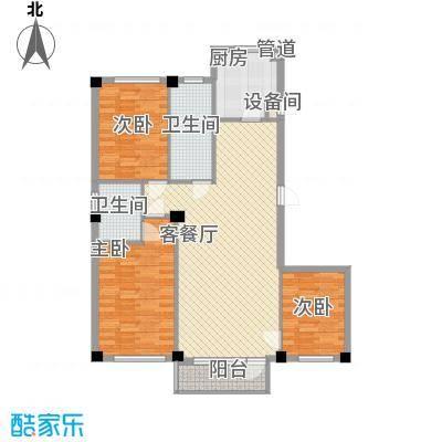 紫金枫尚123.63㎡紫金枫尚123.63㎡3室2厅2卫1厨户型3室2厅2卫1厨