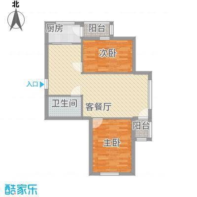 圣苑山水82.00㎡户型2室2厅1卫1厨