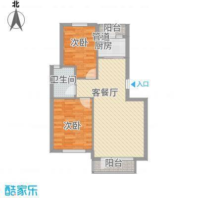新星绿城85.00㎡新星绿城户型图A7号楼A户型2室2厅1卫1厨户型2室2厅1卫1厨