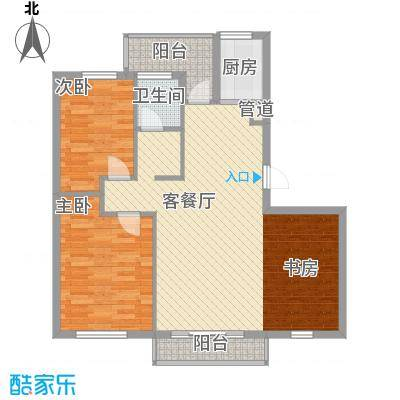 新星绿城103.00㎡新星绿城户型图A8、A9#G户型3室1厅2卫1厨户型3室1厅2卫1厨