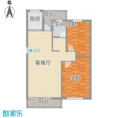 新星绿城88.00㎡新星绿城户型图2#E户型2室2厅1卫1厨户型2室2厅1卫1厨