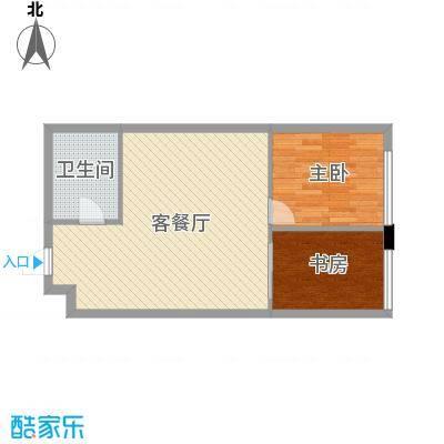 达人社馆67.00㎡户型2室2厅1卫1厨