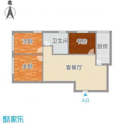 达人社馆105.00㎡户型3室2厅1卫1厨