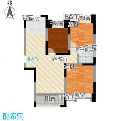橡树湾109.00㎡橡树湾户型图B-6户型3室2厅1卫1厨户型3室2厅1卫1厨